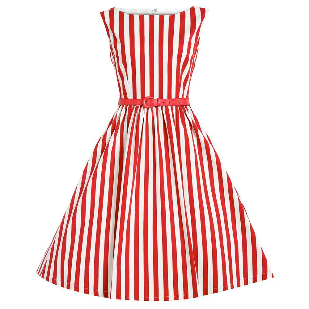 Audrey\' Red Stripe Swing Dress. have it in green and blue too ...
