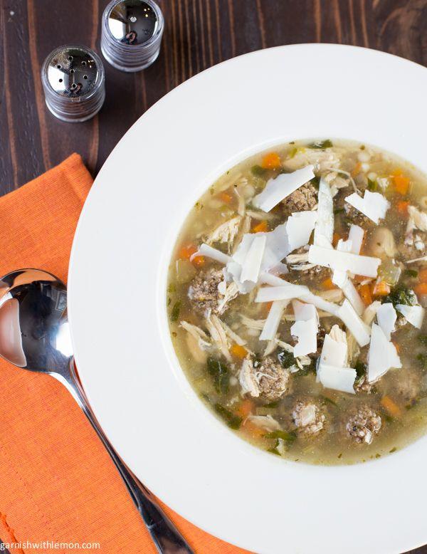 Slow Cooker Italian Wedding Soup - Garnish with Lemon www ...