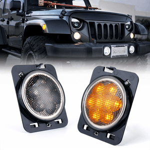 2007 2018 Jeep Jk Led Amber Yellow Front Fender Side Marker With