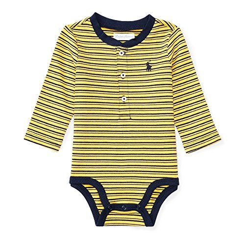 5b942d326dde Ralph Lauren Baby Boys Striped Cotton Mesh Bodysuit (9 Mo... https ...