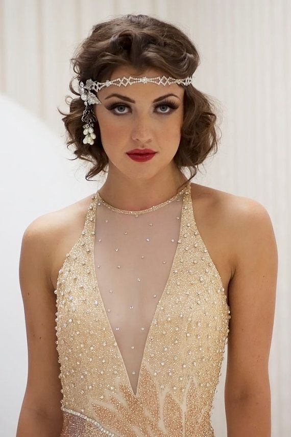 Flapper Hairstyles love it or hate it kate bosworths 1920s inspired do Sparkly Rhinestone Gatsby Head Piece Flapper Hairstylesgreat