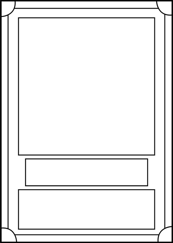 Trading Card template | 6-8th Grade | Pinterest | Trading card ...