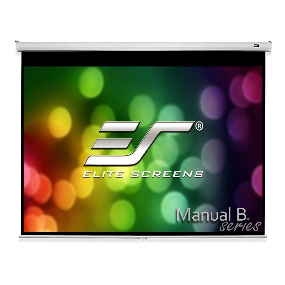 Elite Screens Manual B Series 100 Inch Diagonal 4 3 Pull Down Projection Manual Projector Scre Projector Screen Pull Down Projector Screen Projection Screens