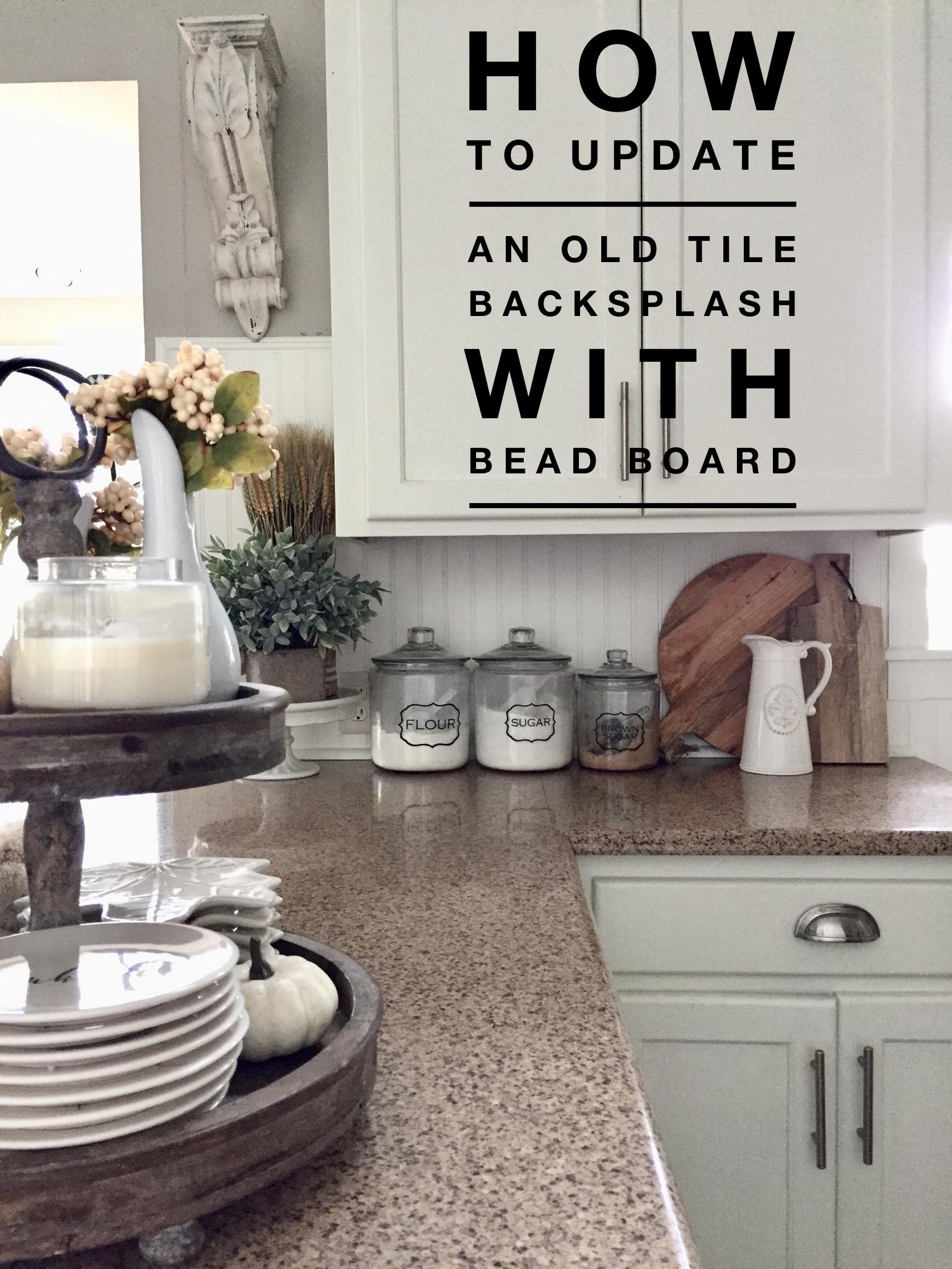 Update Your Kitchen Back Splash Tile With Bead Board Diy Tile