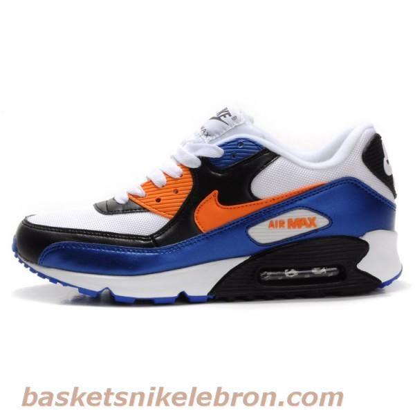 Nike Max Amant 90 Noir / Bleu / Blanc / Orange Air Max Homme Vente