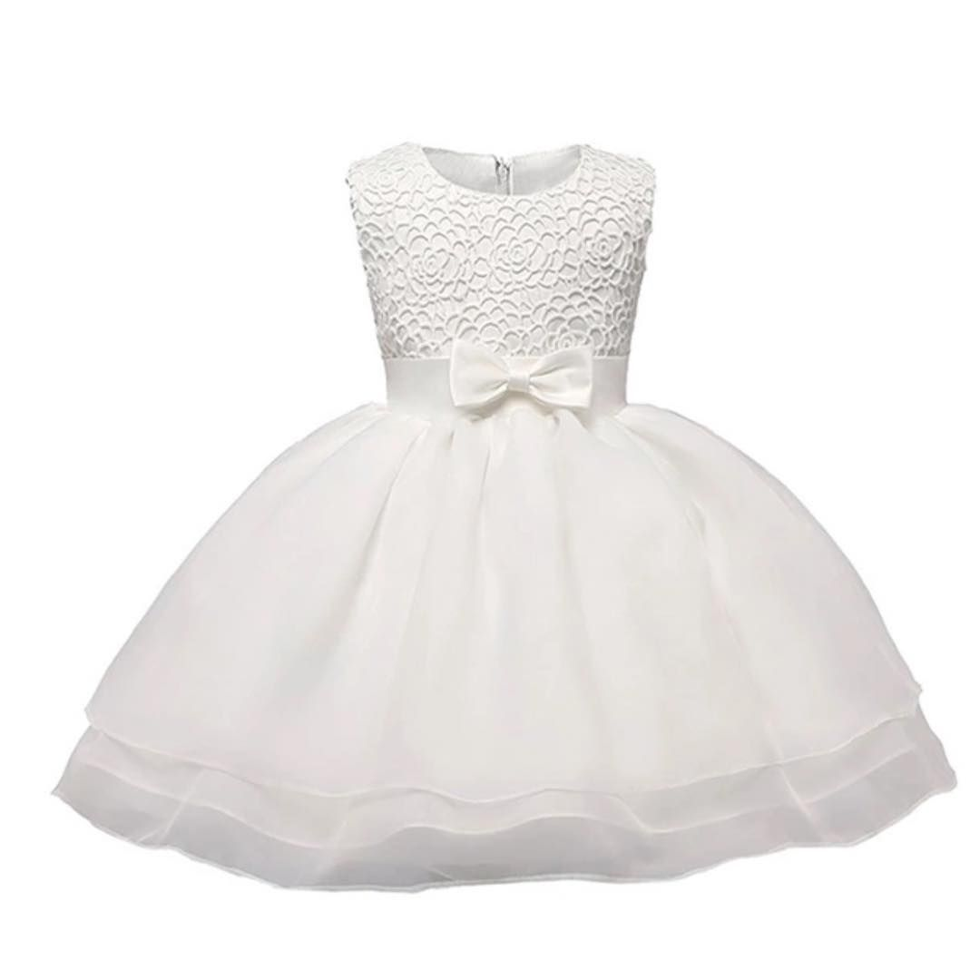 42bea85a49ab Vintage Lace Baby Girl Wedding Pageant Dress Infant Princess Little ...