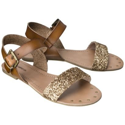 glitter + gold sandals