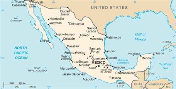 States Of Mexico Map And Capitals learn the mexican states capitals ...