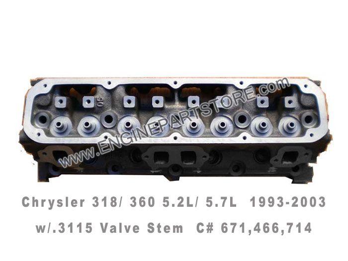 93-03 Chrysler Dodge Jeep 5 2/5 9 318/360 Magnum bare