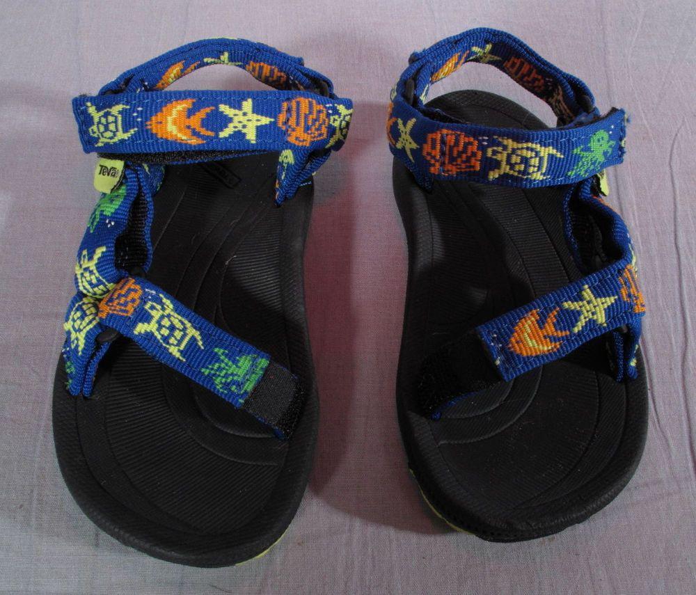 28d4d4695c58 Unisex Kid s Toddler Teva Sandals Multi-color Size 7 M Strappy Fabric Low   Teva  Sandals
