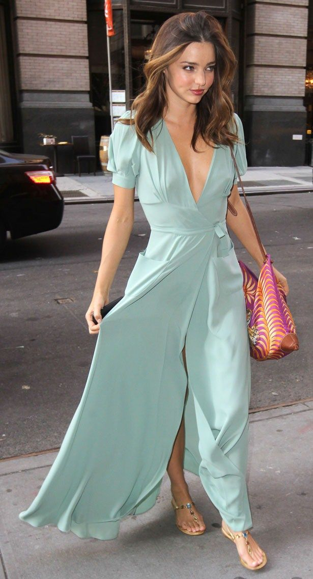 2bb88a84fdd Glam radar Miranda Kerr mint maxi dress.  mint  maxidress  dress   mirandakerr  city  glam  fashion