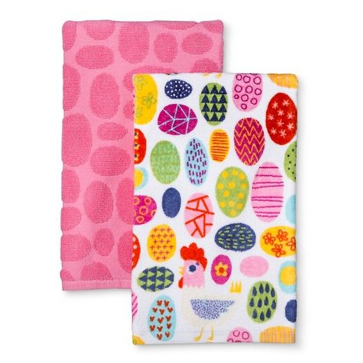 (2Pk) Easter Egg Kitchen Towel : Target