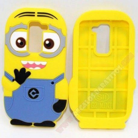 Carcasa LG G2 Mini Minion 3D diseño de silicona