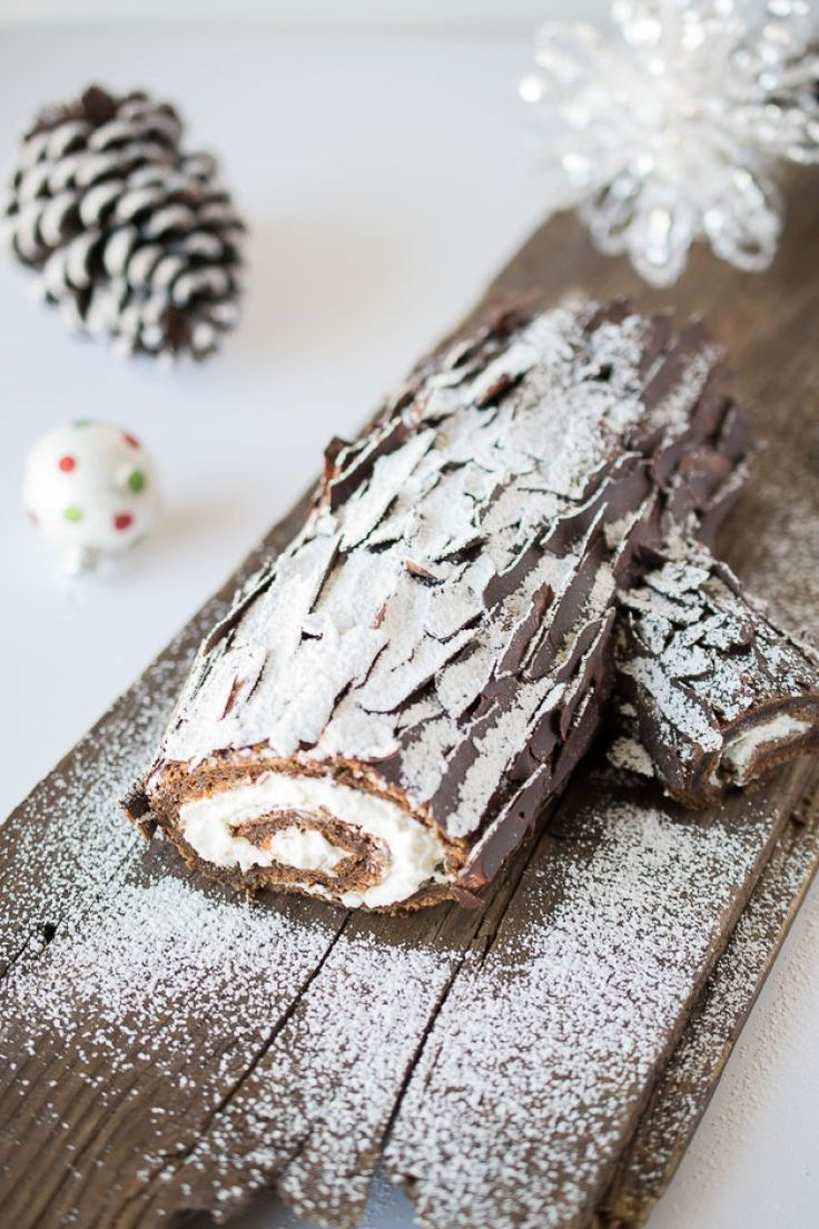 Yule log (bûche de Noël) - Culinary Ginger