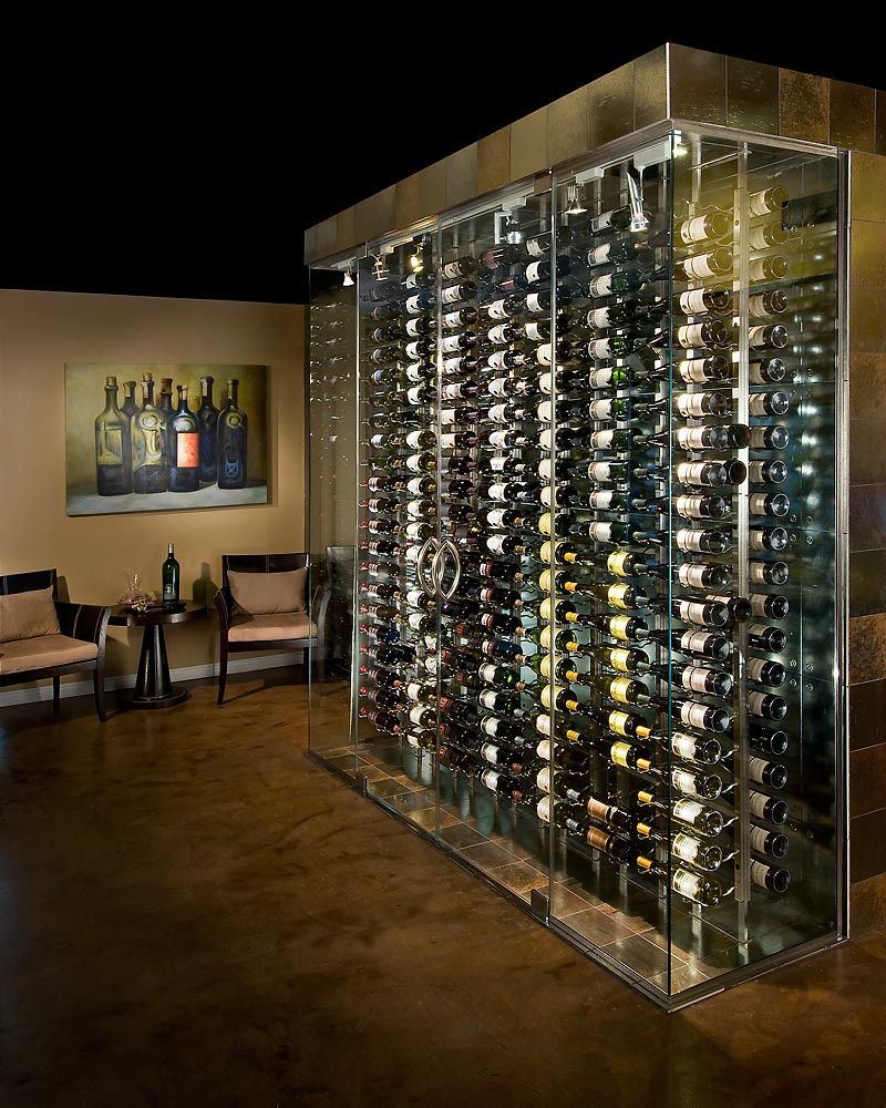Top 11 photos of wonderful cellar design glass wine for Wine cellar pinterest