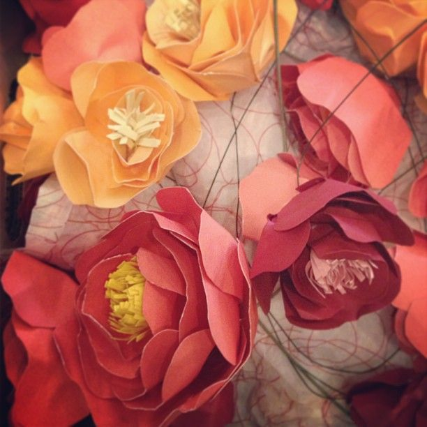 paper flowers for wedding altar by www.kathryngodwin.com