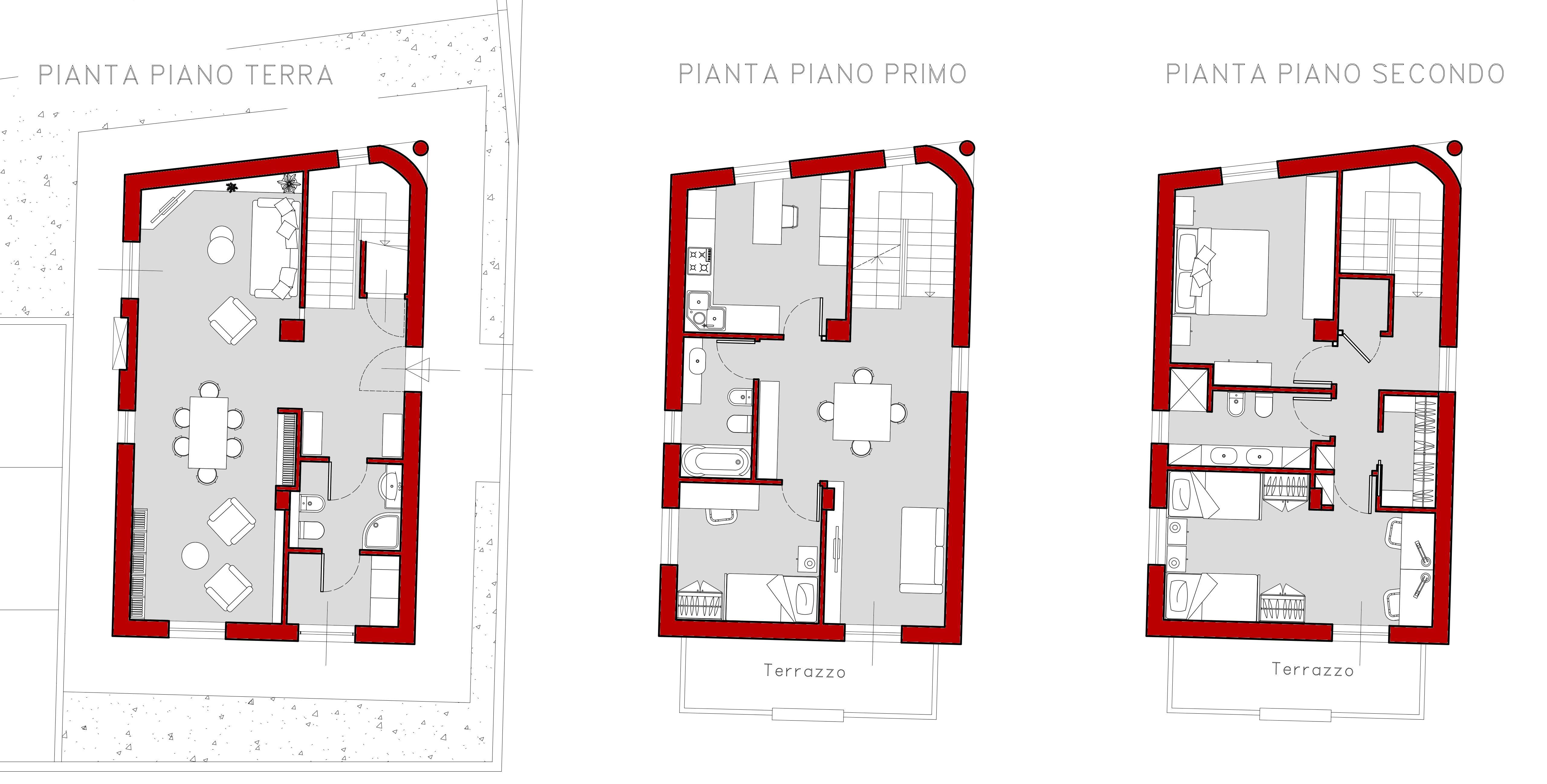 Progetto Casa 80 Mq Su Due Livelli - Tischlampe