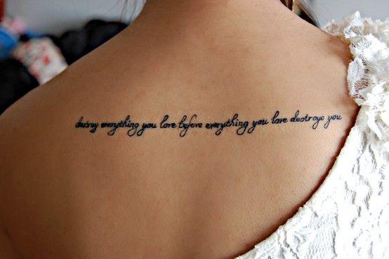 Tatuagem Com Frase Em Inglês Fonte Cursiva Para Tatuagem