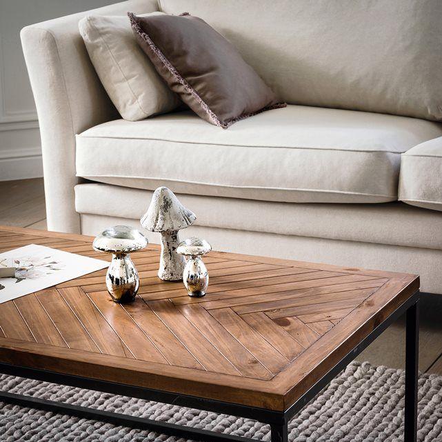 nottingham coffee table in metal pine herringbone on stunning wooden metal coffee table id=72089