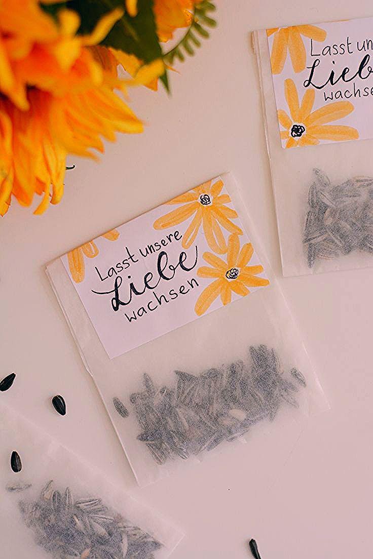 Photo of DIY: Sonnenblumen-Tüten als Gastgeschenk – we love handmade