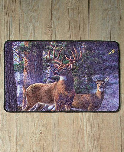 The Lakeside Collection Cold Snap Deer Bathroom Rug | Bath Rugs | Pinterest  | Bath Rugs And Bath