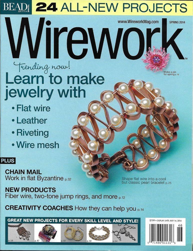 Wire work magazine Jewelry Leather Mesh Rivet Chain mail Fiber ...