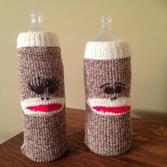 Sack Monkee, Baby Bottle Cover, Sock Monkey Nursery ...
