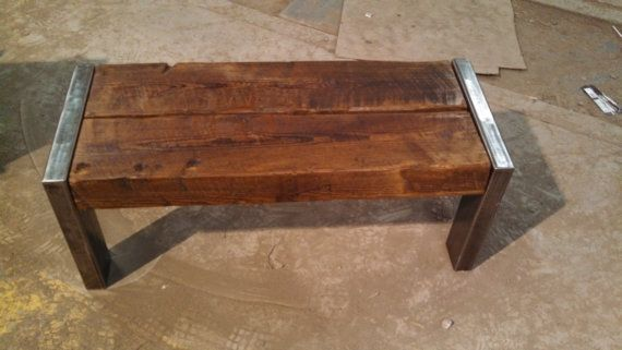 Rustic Bench Coffee Table Rough Cut Pine By Farmhousewoodandiron 415 00