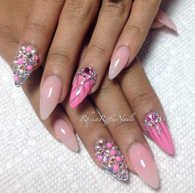 Uas De Acrilico Diseos Elegantes Top Nails Uas Nailspretty