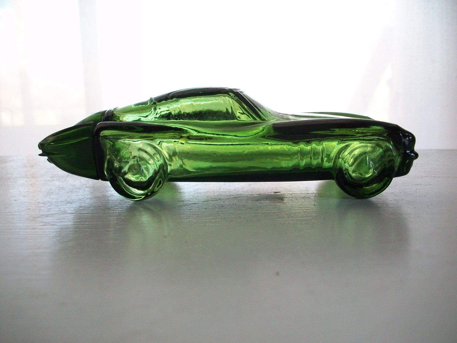 Vintage Avon Green Glass Sports Car Glass Cars Vintage