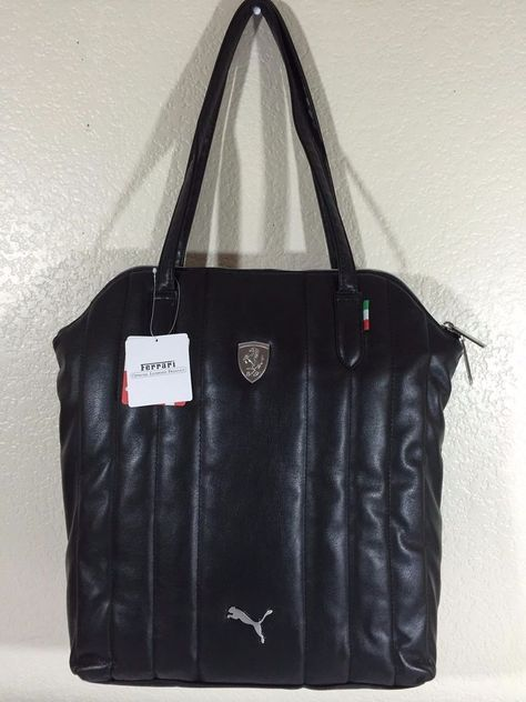 7130f0c5d8 PUMA-FERRARI LS Shopper black Women handbag PMMO1039 16.5