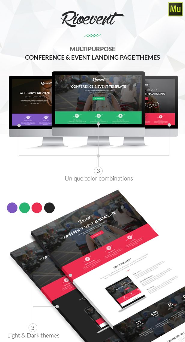 Rio Event Muse Landing Page Landing Nulled Httpnulledzero - Event landing page template free