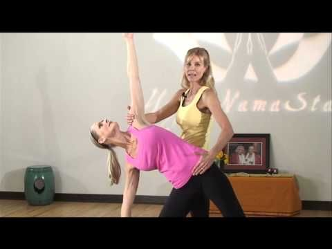 yoga adjustment  alignment sequence utthita trikonasana