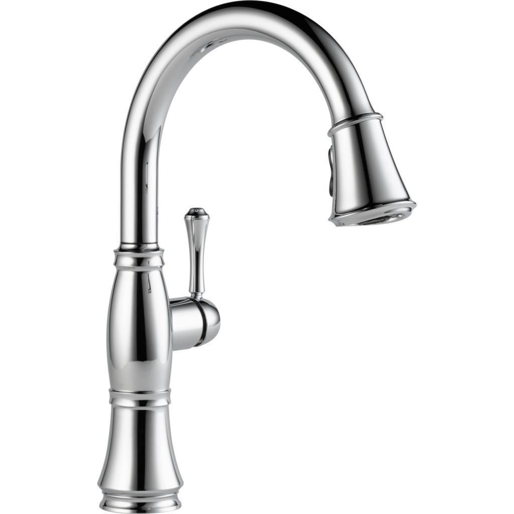 Delta Cassidy Chrome Single Handle Pull-down Kitchen Faucet ...
