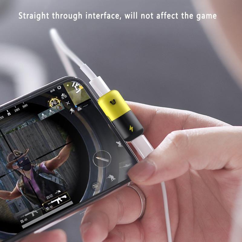 Dual lightning splitter audiocharge adapter for iphone