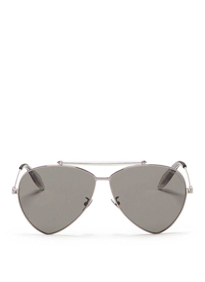 Alexander McQueen Sonnenbrille Piercing Shield J9m9C0