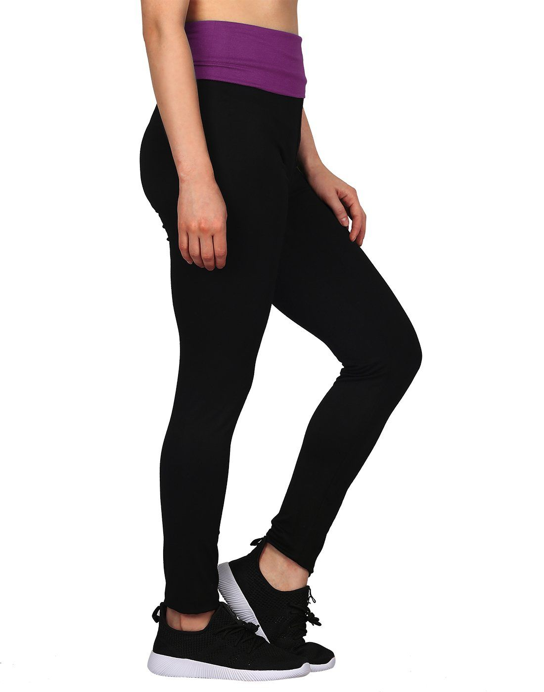 e2f3993312c3e pregnancy workout - HDE Womens Maternity Yoga Pants Pregnancy Stretch Fold  Over Lounge Leggings Black with Purple Large -- Look into the image by  going to ...