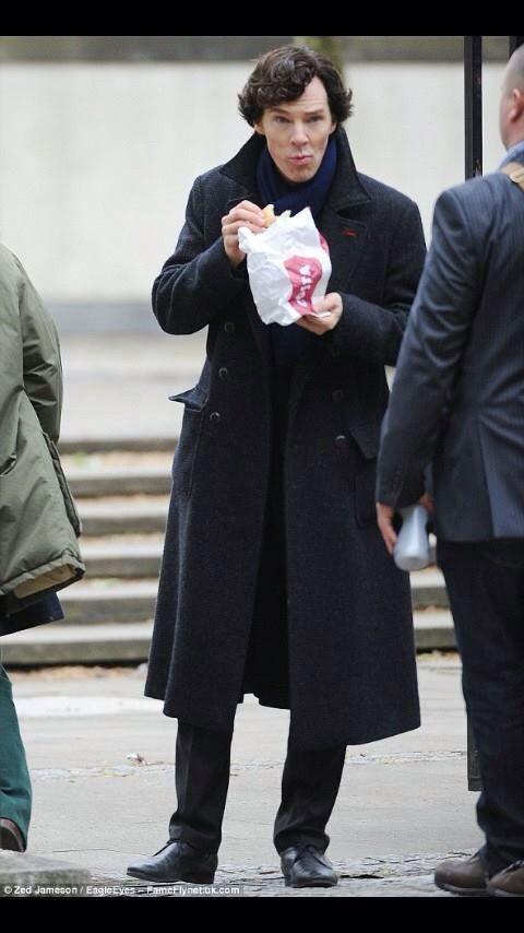 Sherlock caught eating