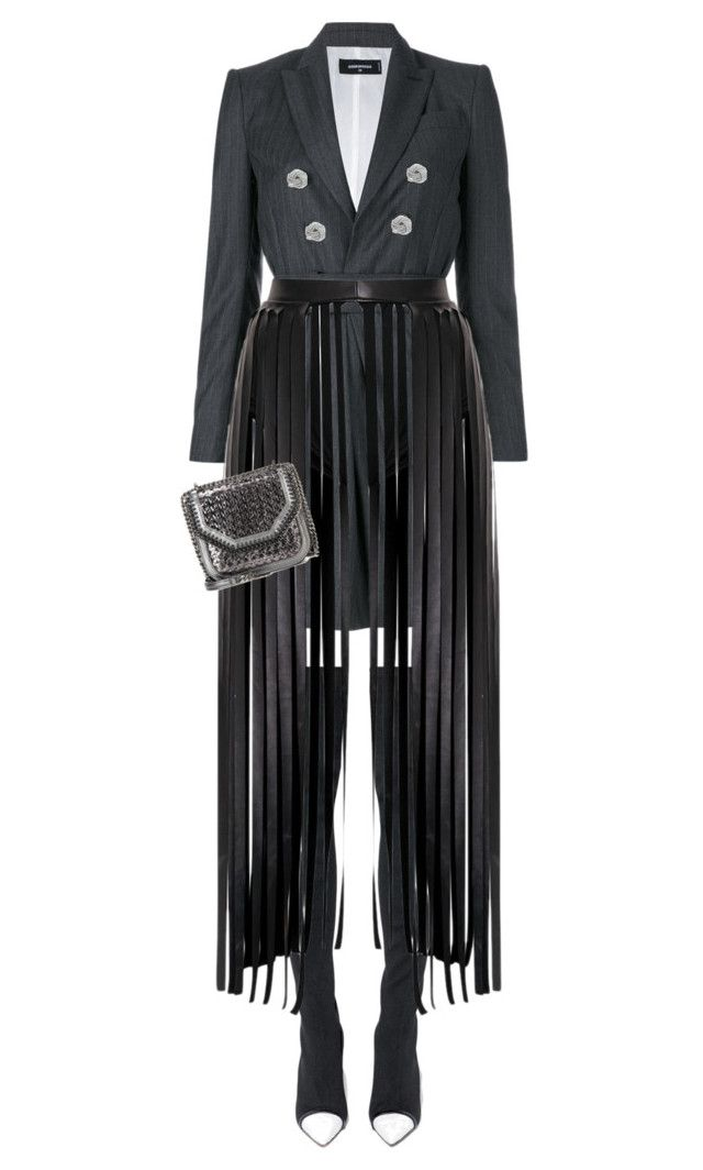 """""""why don't you wear a fringe bel over your blazer dress?"""" by esterp ❤ liked on Polyvore featuring Dsquared2, Givenchy and STELLA McCARTNEY"""