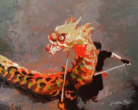 Happy Chinese New Year, painting by artist Susan Cox
