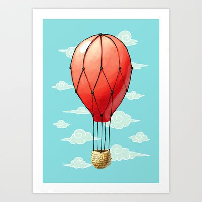 Hot Air Balloon Art Print by Freeminds - $18.72