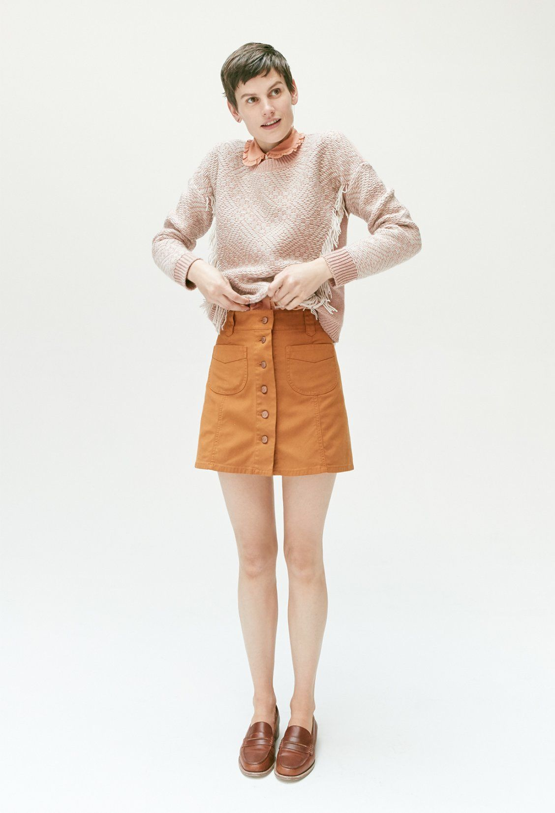94468e8876 madewell patch-pocket skirt worn with the elinor loafer