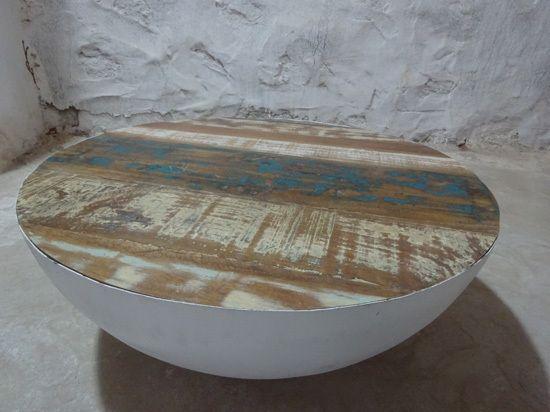salontafel bowl wit metaal inrichting pinterest