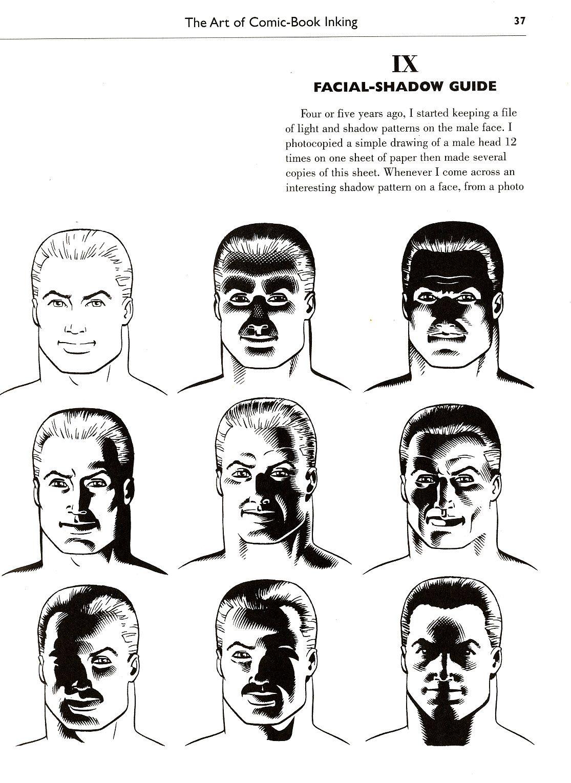 Loston Wallace Shadow Guide Face Tutorial De Comic Luz Y Sombra Dibujo Como Dibujar Sombras