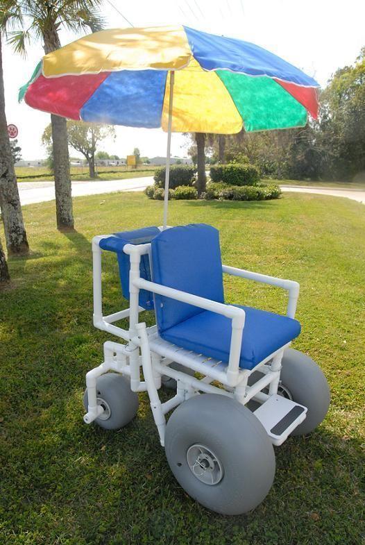 Rolleez Beach Wheelchair Works On All Terrains Including Beach And Snow Healthline Pvc Projects Wheelchair Pvc
