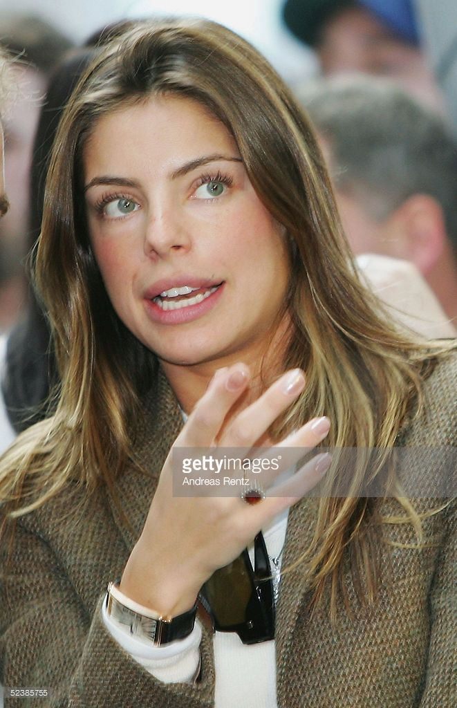 Daniella Cicarelli, 24-year-old Brazilian model and fiancee of Brazilian footballer Ronaldo, attends the CeBIT technology trade fair March 14, 2005 in Hanover, Germany. CeBIT, the biggest technology trade fair in the world, runs from March 10-16.