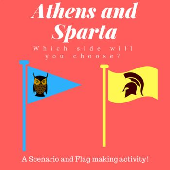 Sparta Vs Athens Scenario And Flag Assignment Activity Tpt Items