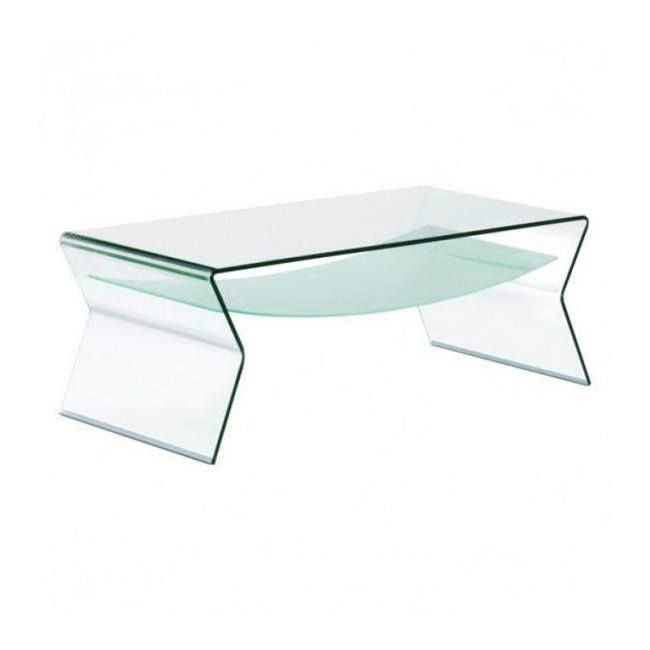 Bent Glass Sidetable With Shelf 1 2 Inch Thick Branded By Fab Glass And Mirror Coffee Table Glass Coffee Table Glass Table