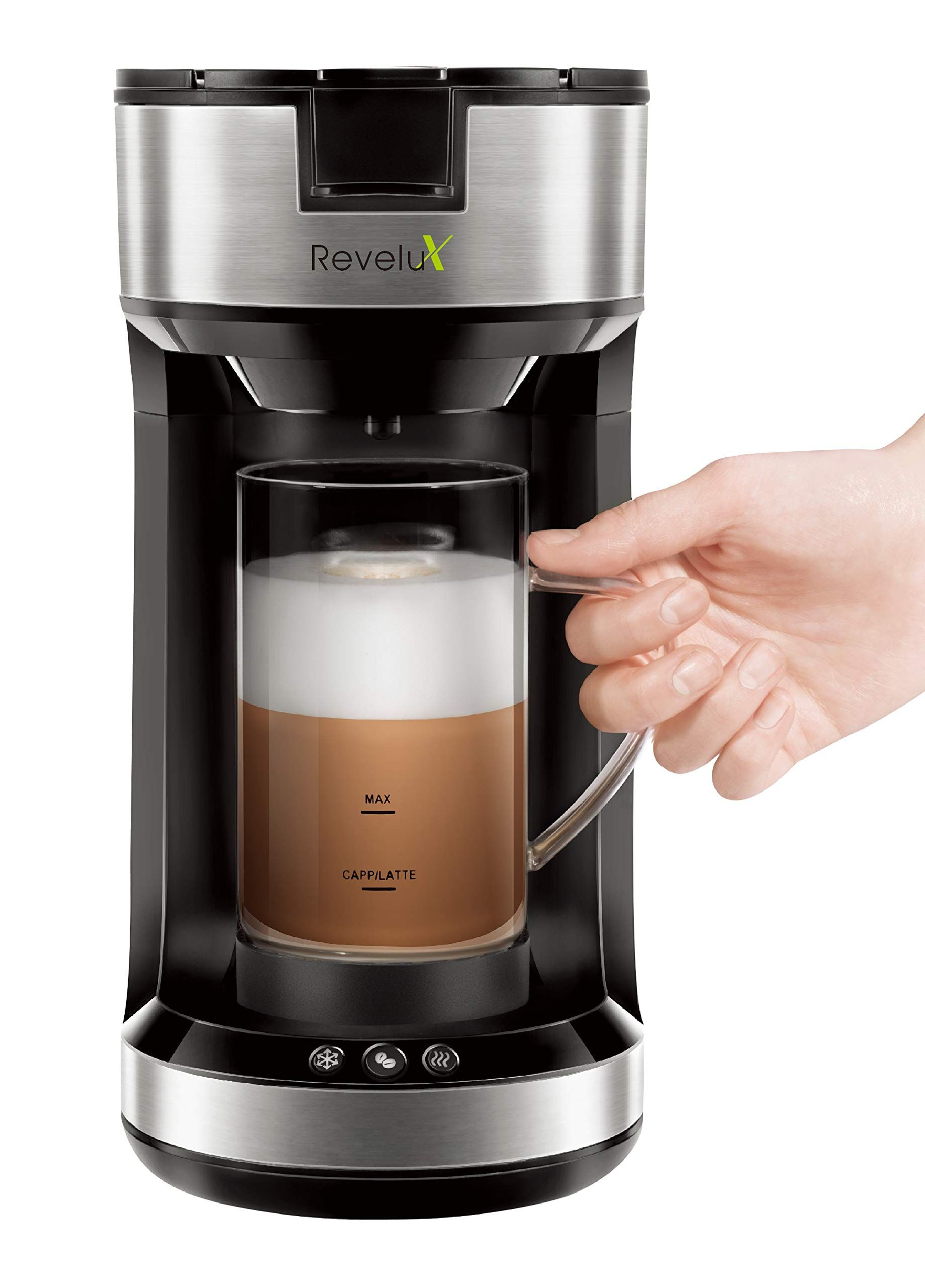 Revelux Single Serve Coffee Make Single Cup Coffee Maker Milk Frother Single Serve Coffee Makers