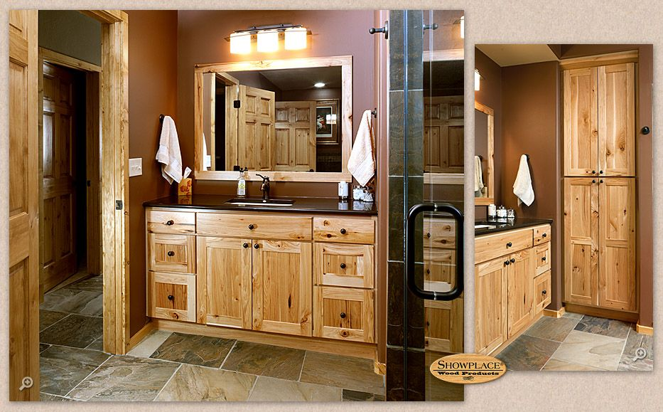 This Inviting Guest Bath Features Showplace Hickory In A Non Inset Variant Of The Pendleton Door